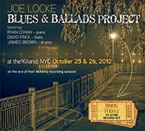 Blues & Ballads at the Kitano Oct 25 + 26